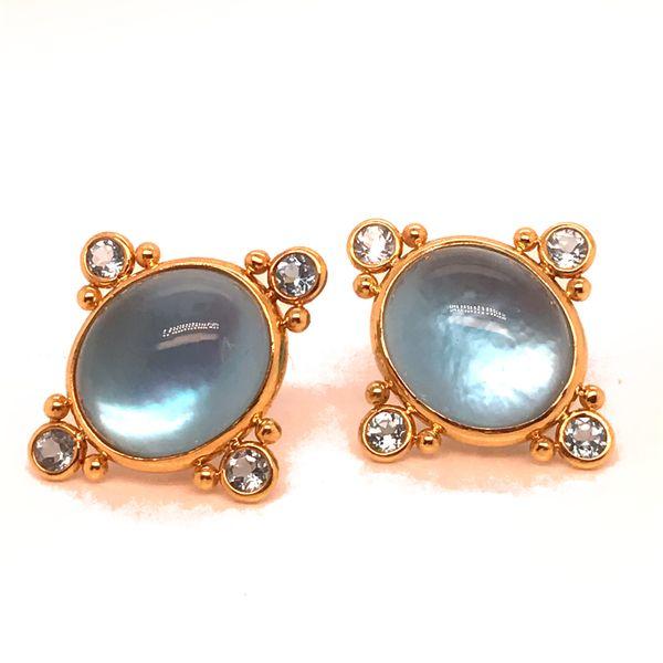 Blue Topaz Post Earrings Mystique Jewelers Alexandria, VA