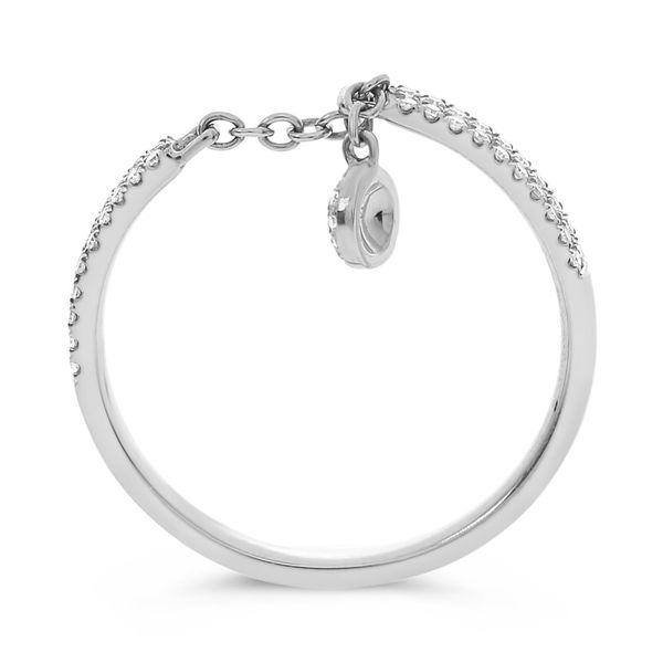 Chain Diamond Ring with Dangle Image 2 Mystique Jewelers Alexandria, VA