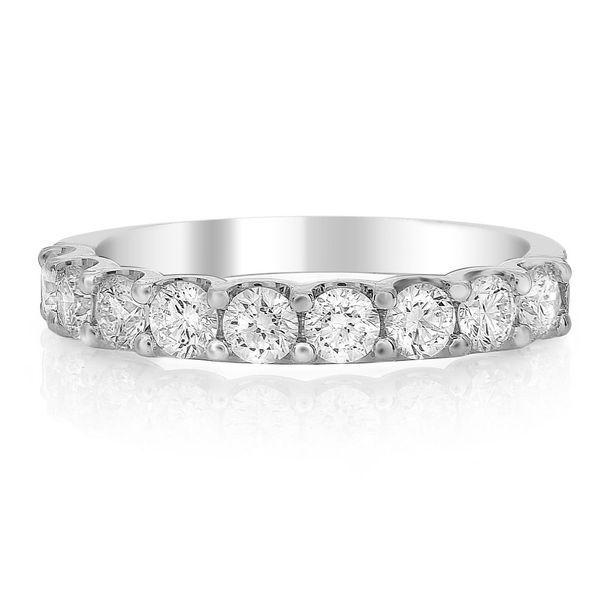 White Gold Nine Stone Diamond Band Style Mystique Jewelers Alexandria, VA