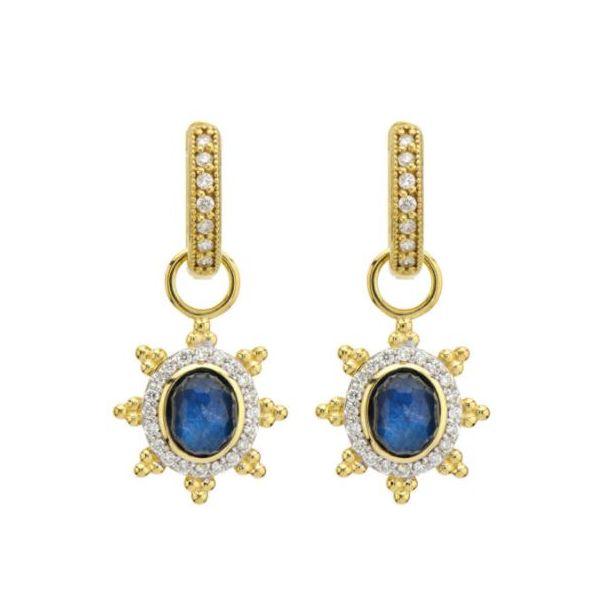 Pave Halo Labradorite Earring Charm Mystique Jewelers Alexandria, VA