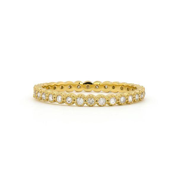 Petite Bezel Diamond Band Mystique Jewelers Alexandria, VA
