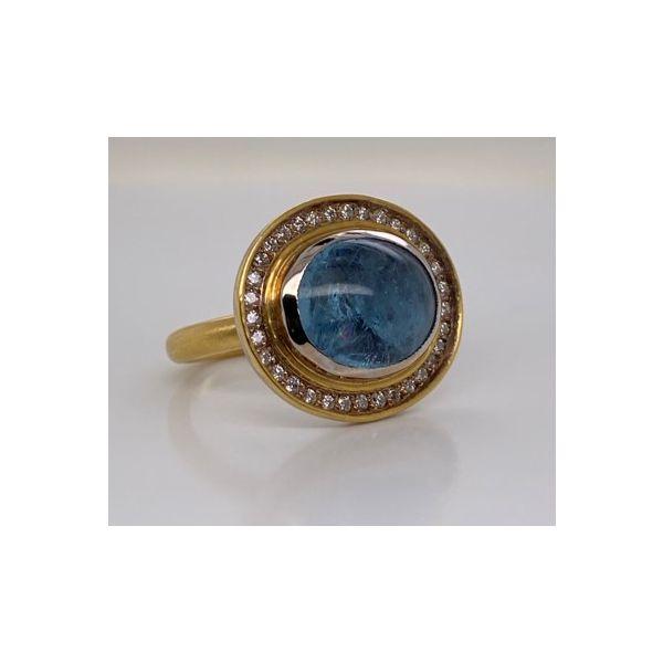 Aquamarine and Diamond Ring Mystique Jewelers Alexandria, VA