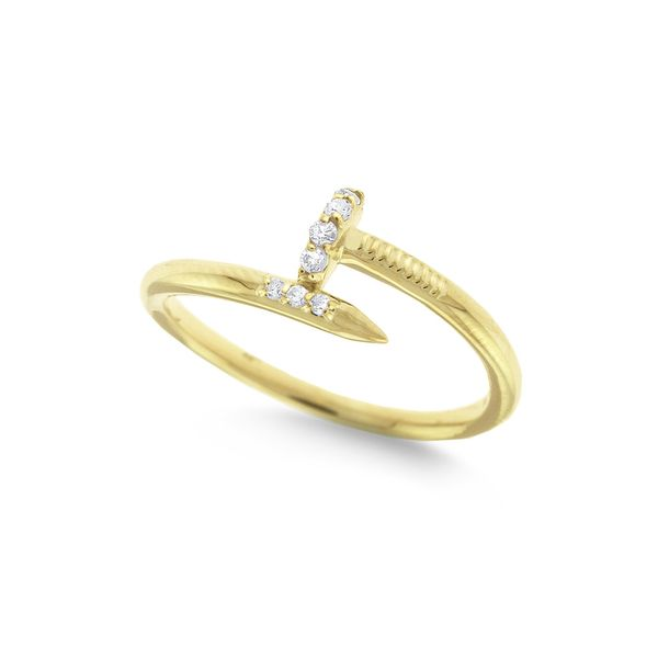 Gold Nail Ring with Diamonds Mystique Jewelers Alexandria, VA