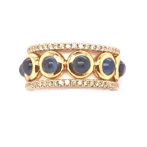 Cabochon Sapphire Ring Image 2 Mystique Jewelers Alexandria, VA