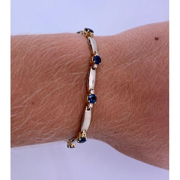 Sapphire and Diamond Bracelet Image 2 Mystique Jewelers Alexandria, VA