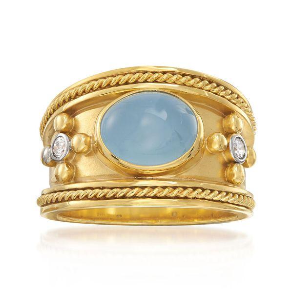 Aquamarine Byzantine Ring  Mystique Jewelers Alexandria, VA