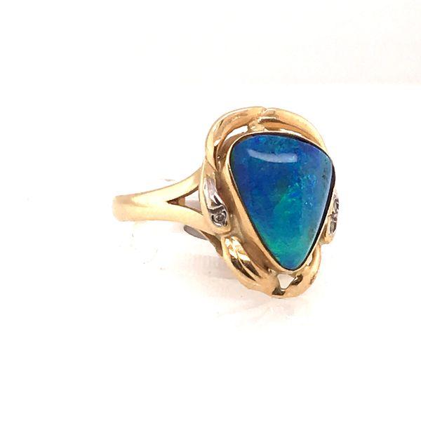Opal Doublet Ring Image 2 Mystique Jewelers Alexandria, VA