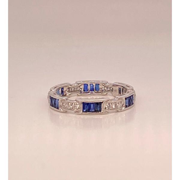 Sapphire and diamond band  Mystique Jewelers Alexandria, VA