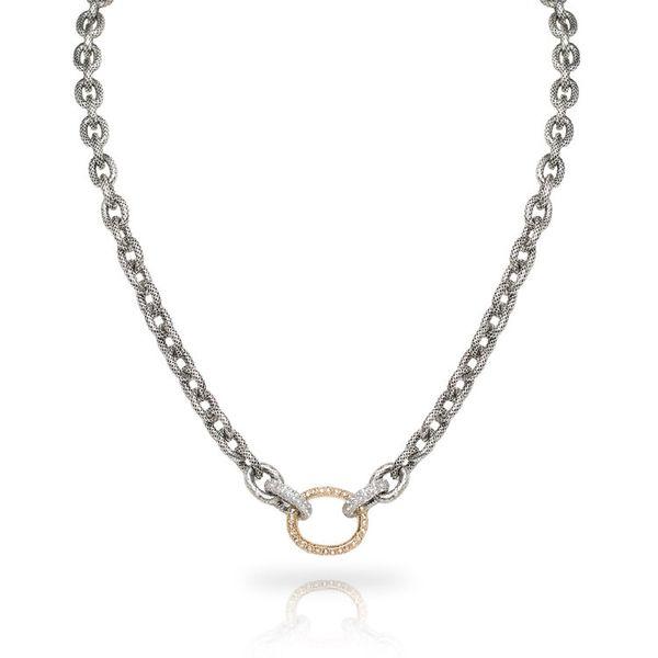 Large Oval Link Pave Necklace Mystique Jewelers Alexandria, VA