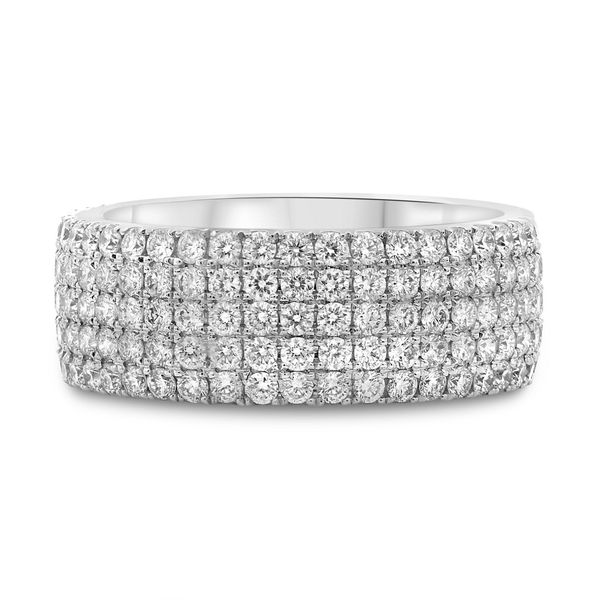 Five Row White Diamond Eternity Band Mystique Jewelers Alexandria, VA