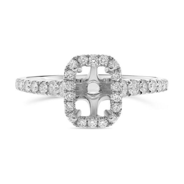 Emerald Cut Pave Engagement Setting Mystique Jewelers Alexandria, VA