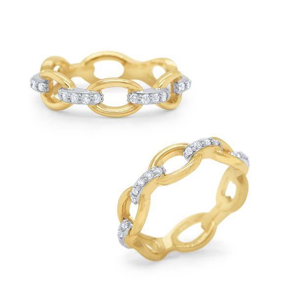 Gold and Diamond Link Ring Mystique Jewelers Alexandria, VA