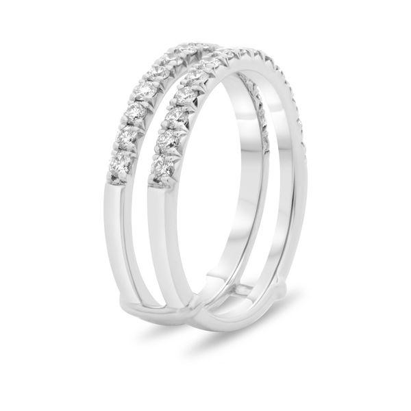 White Diamond Insert Wedding Band Image 2 Mystique Jewelers Alexandria, VA