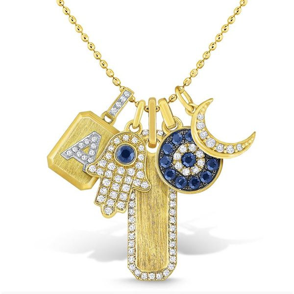 14K Gold and Diamond Charms Necklace Mystique Jewelers Alexandria, VA
