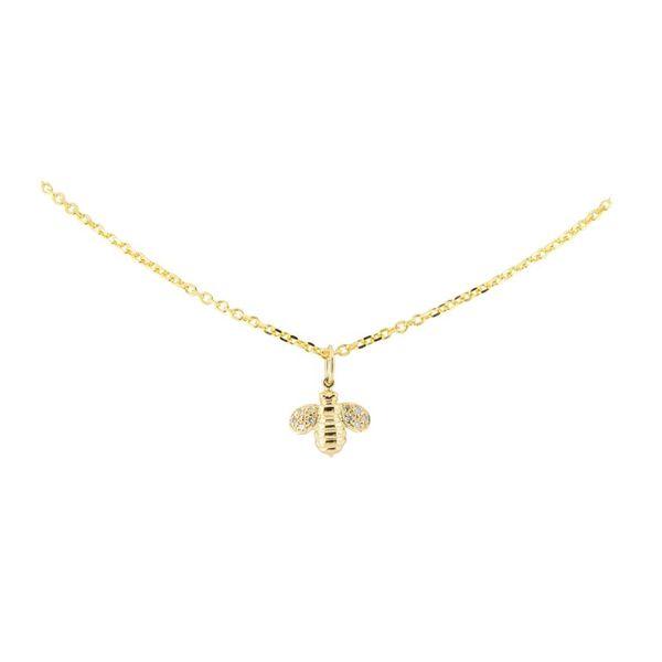 Gumuchian Worker Bee Gold and Diamond Necklace Mystique Jewelers Alexandria, VA
