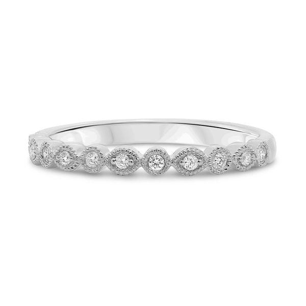 White Diamond Milgrain Band Mystique Jewelers Alexandria, VA