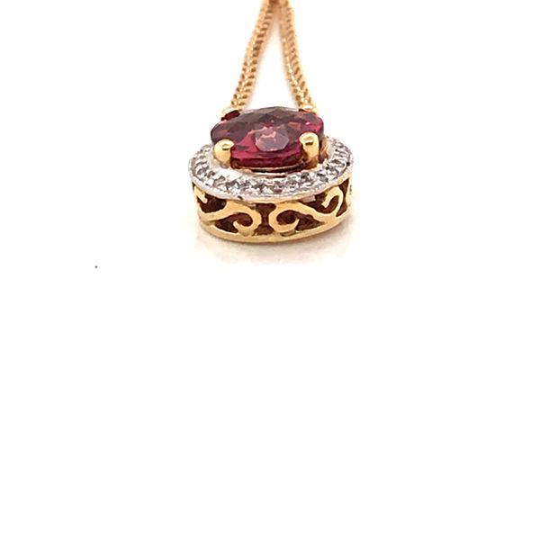 Pink Tourmaline & Diamond Necklace Image 2 Mystique Jewelers Alexandria, VA
