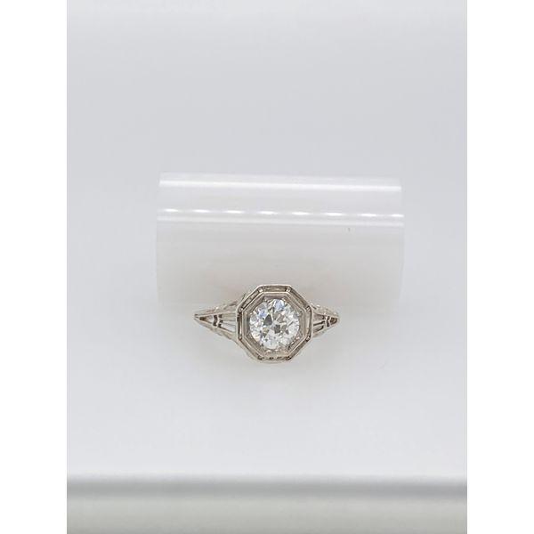 White Gold Filigree Diamond Engagement Ring Mystique Jewelers Alexandria, VA