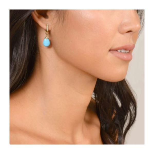 Pear Shape Briolette Turquoise Charms Image 2 Mystique Jewelers Alexandria, VA