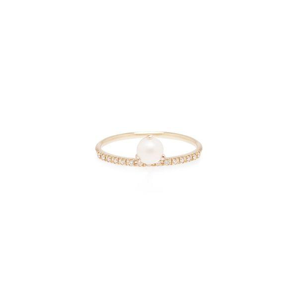 14K PEARL AND PAVE DIAMOND RING Mystique Jewelers Alexandria, VA