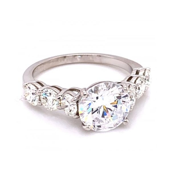 GUMUCHIAN PLATINUM ROUND DIAMONDS ENGAGEMENT RING MOUNTING Mystique Jewelers Alexandria, VA