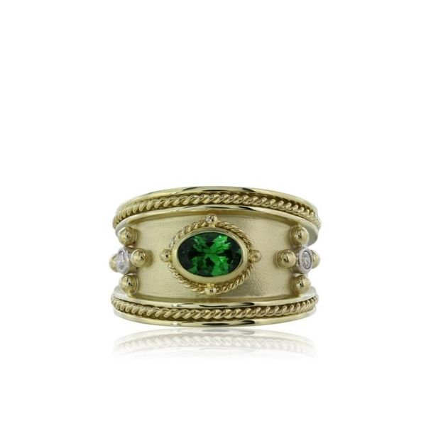 Tsavorite diamond ring  Mystique Jewelers Alexandria, VA