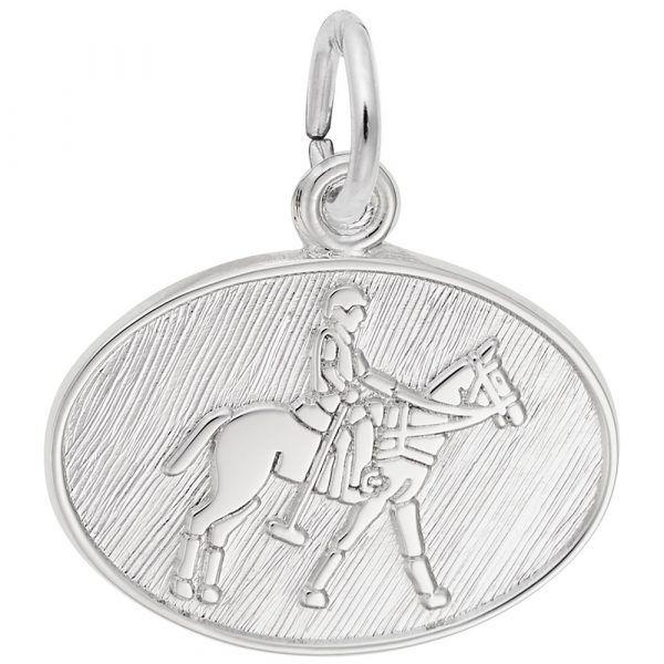 Polo Oval Disc Charm Mystique Jewelers Alexandria, VA