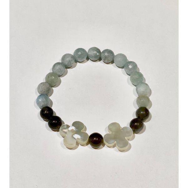 Aquamarine and Labradorite Bracelet with MOP Mystique Jewelers Alexandria, VA