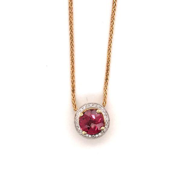 Pink Tourmaline & Diamond Necklace Mystique Jewelers Alexandria, VA