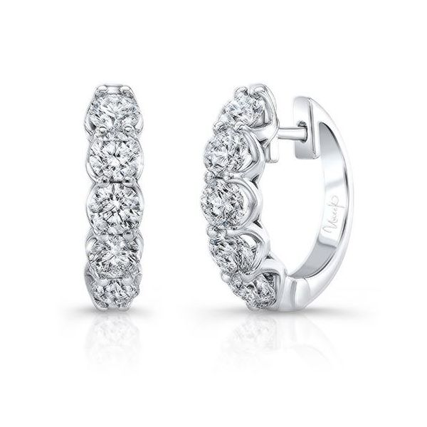 2 Carat Diamond Earrings, in 18K White Gold Mystique Jewelers Alexandria, VA