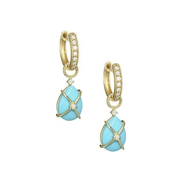 Tiny Criss Cross Wrapped Pear Stone Earring Charms Mystique Jewelers Alexandria, VA