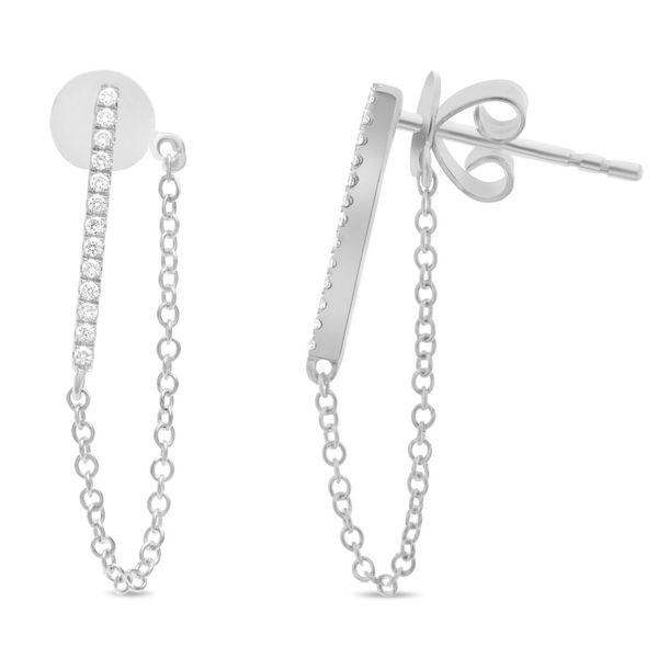 Diamond Bar & Chain Earrings Mystique Jewelers Alexandria, VA