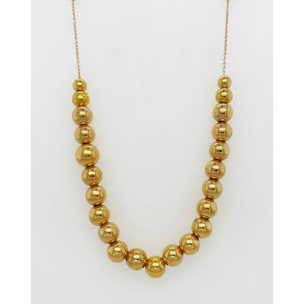 Gold Bead Necklace Mystique Jewelers Alexandria, VA
