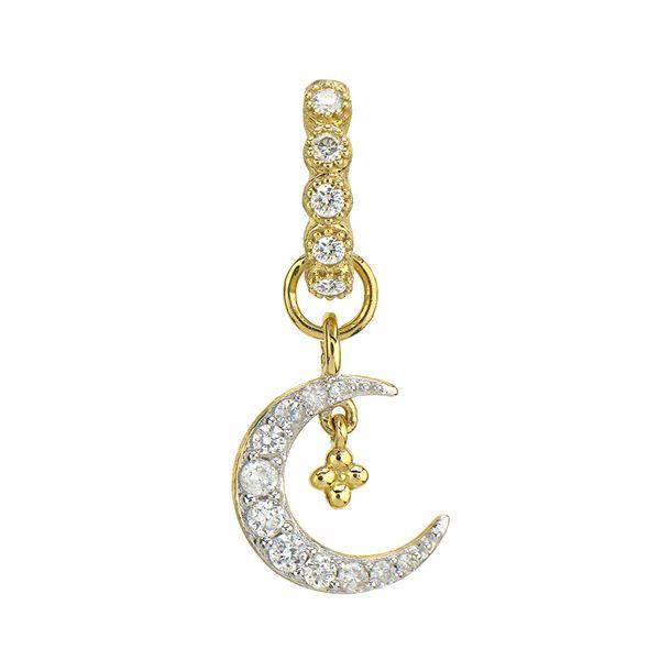 Petite Pave Diamond Crescent Moon Charm Mystique Jewelers Alexandria, VA