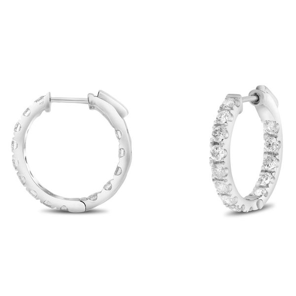 1.00 ct  Diamond Hoop Earrings Mystique Jewelers Alexandria, VA