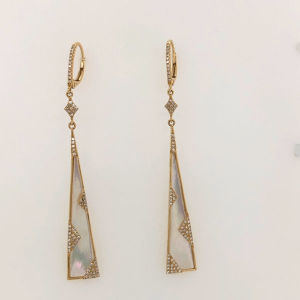 Moonstone Diamond Earrings Mystique Jewelers Alexandria, VA