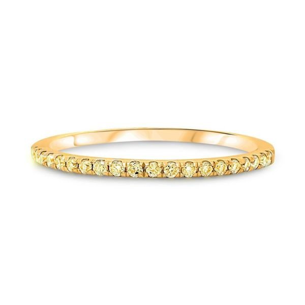 Half Pave Yellow Diamond Band  Mystique Jewelers Alexandria, VA