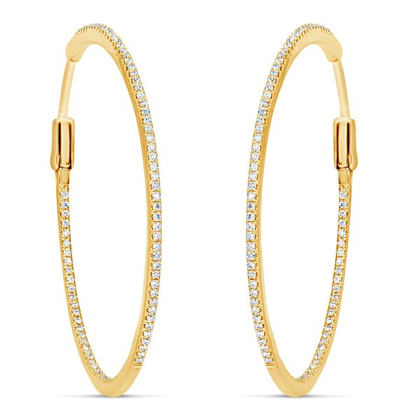 Diamond hoops Mystique Jewelers Alexandria, VA