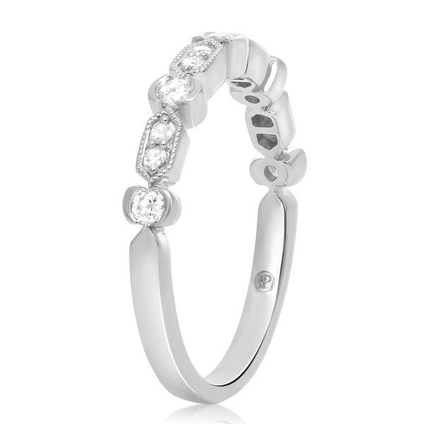 Geometric Milgrain & Diamond Band Image 2 Mystique Jewelers Alexandria, VA