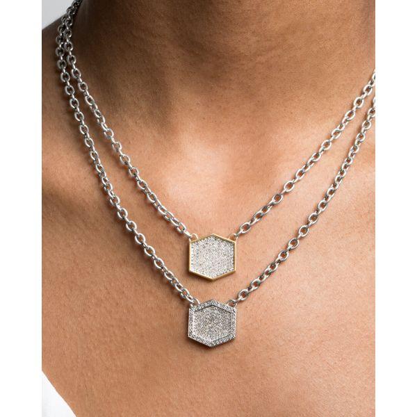 Diamond Pave Necklace Image 2 Mystique Jewelers Alexandria, VA