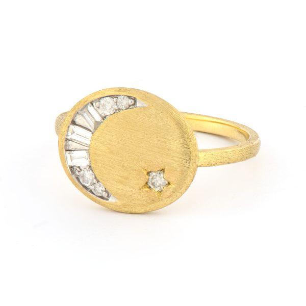 Petite Celestial Moon And Star Ring Mystique Jewelers Alexandria, VA