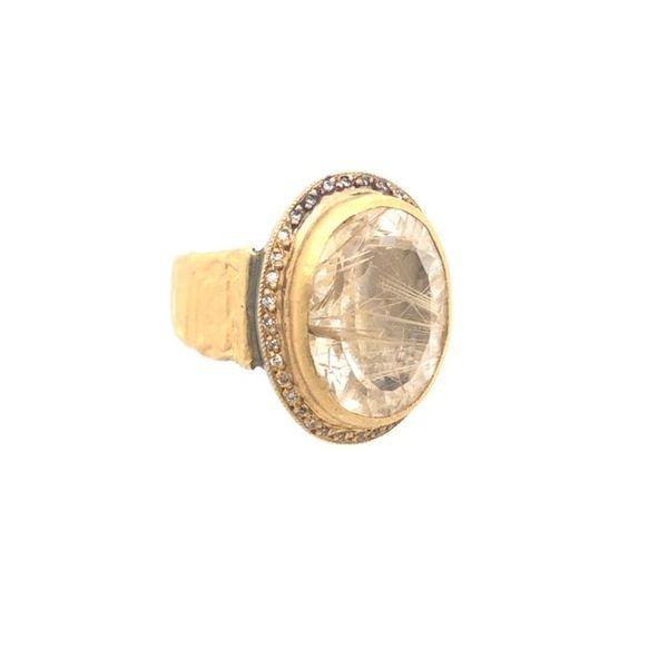 Oval Bezel Rutilated Quartz Ring Mystique Jewelers Alexandria, VA