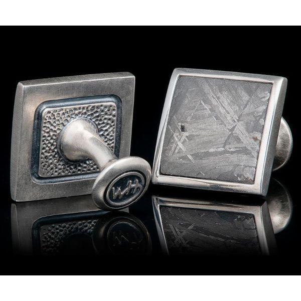Meteorite Cufflinks Image 2 Mystique Jewelers Alexandria, VA