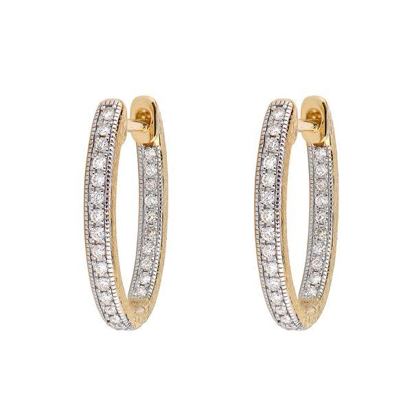 Delicate Small Oval Hoop Earrings Mystique Jewelers Alexandria, VA