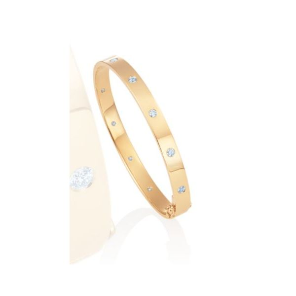 18K Yellow Gold Bangle with Diamonds Mystique Jewelers Alexandria, VA