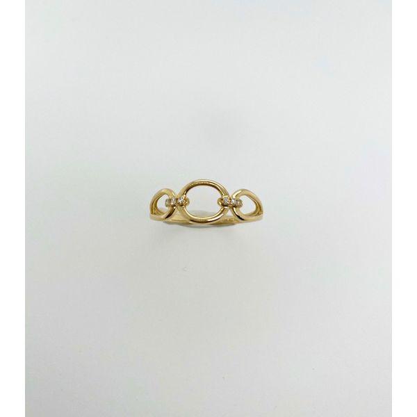 Diamond and Gold Oval Ring Mystique Jewelers Alexandria, VA