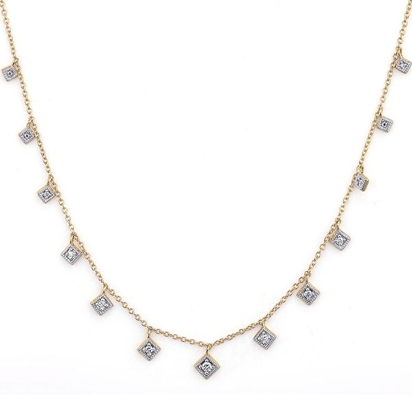 Lisse Dancing Diamonds Kite Necklace Mystique Jewelers Alexandria, VA