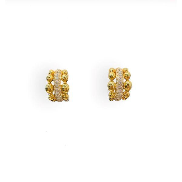 Diamond and Gold Hoop Earrings Mystique Jewelers Alexandria, VA