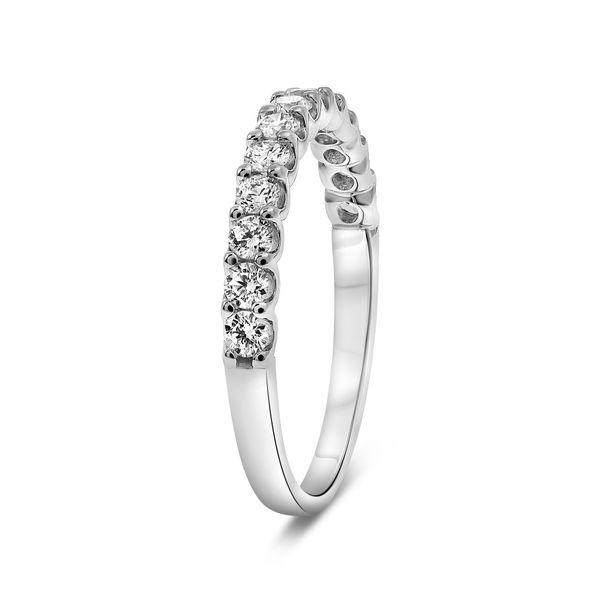 White Gold Halfway Diamond Band  Image 2 Mystique Jewelers Alexandria, VA