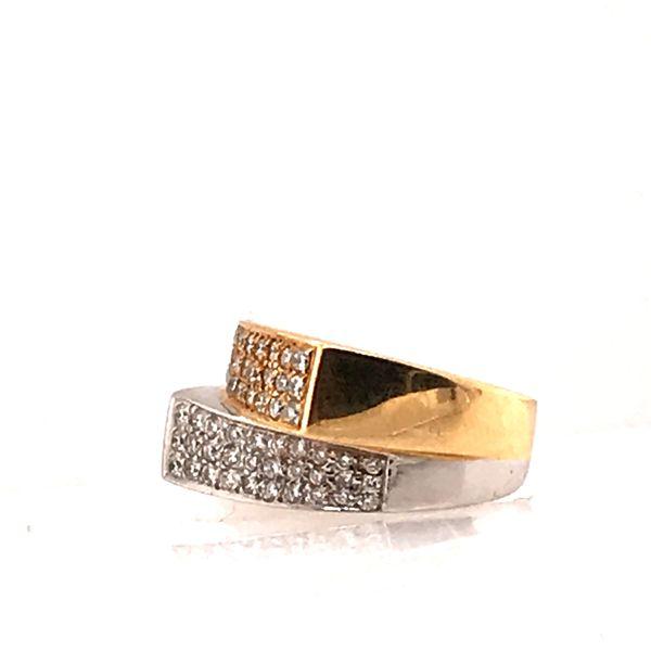 Mixed Gold Diamond Ring Image 2 Mystique Jewelers Alexandria, VA